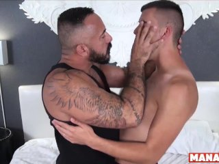 MANALIZED Josh Stone Cums Hard While Latino Daddy Fucks Him