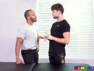 4 Hands Interracial Massage And Internal Massage
