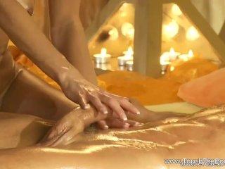 Sweet Handjob And Massage Elegance