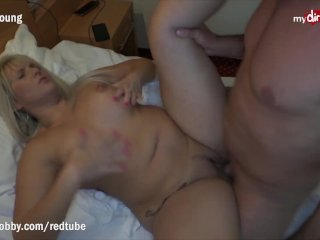 MyDirtyHobby – Caught her co-worker masturbating and lend him a hand