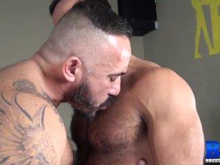 BREEDMERAW Hairy Hunk Alessio Romero Rides Balls Deep Raw