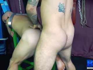 BREEDMERAW Hairy John Lock Fucked Doggystyle After Rimming