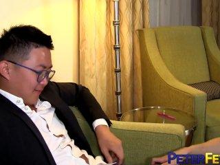 PETERFEVER Asian Boss Peter Yang Fucks Blond Intern Deep