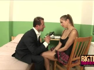Busty Schoolgirl Rose Dildo Fucked And Blowjobs