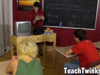 Young gay sucks his classmate off and drills him balls deep