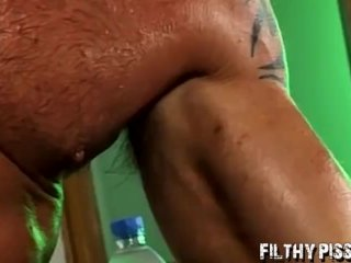 Golden shower for jocks that love to ass fuck each other too