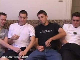 Four Amateurs Gay Sex Orgy