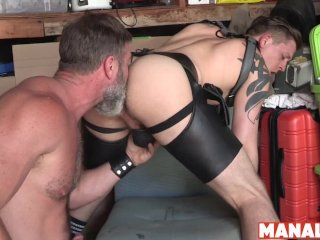 MANALIZED Tyler Rush Licks Daddys Shoes Before Bareback Fuck