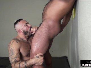 Cocksucking hunk assfucked barebacked by jock
