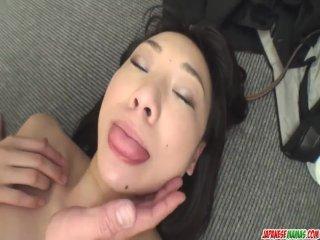 Miho Wakabayashi Creampied In A Threesome - More at Japanesemamas com