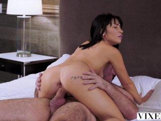 VIXEN Gorgeous Rina has intense sex with longtime crush