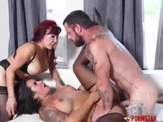 PORNSTARPLATINUM Redhead Sexy Vanessa Fucked In Threesome