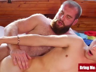 BRINGMEABOY Young Corey Law Seduces Hung Bearded Daddy