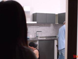 18videoz – Li Loo – Asian teen kitchen double-fuck