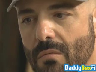 Inked daddy Rocco Steele doggystyle fucking handsome hunk