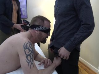 RawFuckBoys – Blindfolded amateur fed cock by kinky jocks in a hotel