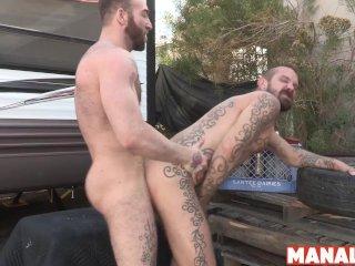 MANALIZED Manuel Scalco Throat Fucks Jock Before Rough Fuck