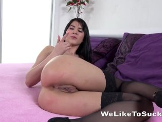 Lady Dee's Anal Debut With Ass To Mouth