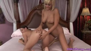 Caught masturbating by her best friend