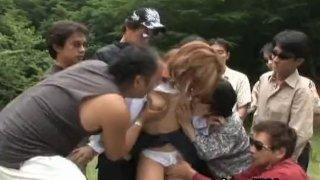 Akane Hotaru Hot Asian model gets groped