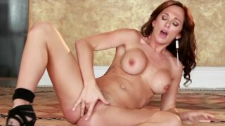 Hot redhead Destiny Dixon fingers her pussy