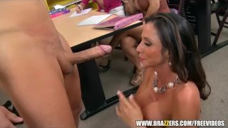 Big-tit Latina teacher gets a sex ed lesson - brazzers