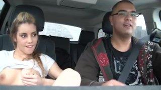 Hot Teen Masturbates in Car