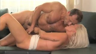 Hot blonde MILF cumming all over the place