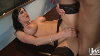 Strict teacher punishes her student in class