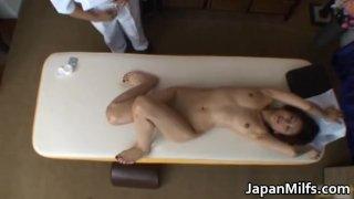 Asian MILF massage and fucking