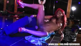 Ebony stripper gets some rough anal - brazzers