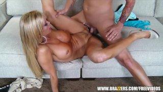 Single blonde rides cock - brazzers