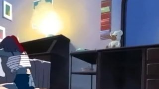 Amazing hentai sex scene in bed