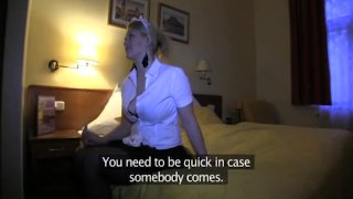 Blonde hotel maid fucked