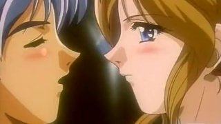 Anime sex with a crummy blonde