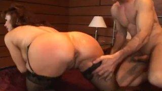 Redhead MILF gets a rough anal pounding