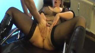 Blond milf fist fucked in her insatiable vagi