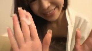 Ami Hinata sweet Asian schoolgirl enjoys