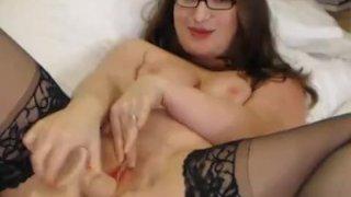 Busty british hottie strips her lingerie
