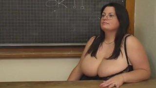 BBW Angel Banged In Classroom