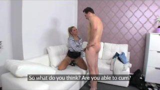 FemaleAgent - Sexy milf calms nervous stud