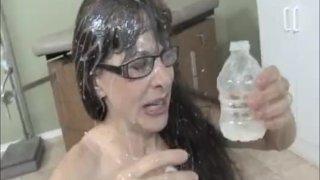 Sperm Collector Gets Splattered WIth Jizz