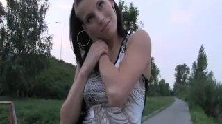 PublicAgent - Horny brunette in a g-string