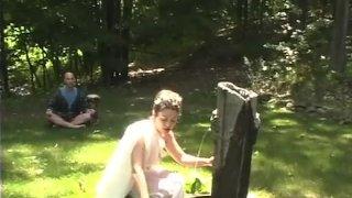 Fantasy outdoor sex in the love garden