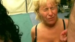 Dames get cum in wild orgy