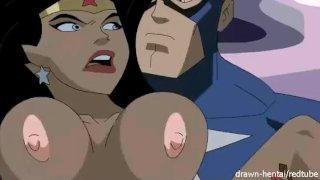Super heroes hentai