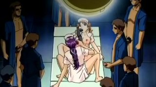 Hentai lesbians play with toys and alive rods