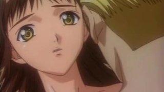 Hentai brunette fucks dick like a hungry slut