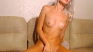 Hot Blonde Rides her Dildo to Orgasms