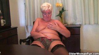 When granny comes home the knickers come down